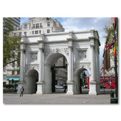 Αφίσα (λεωφορείο, τετράγωνο, Λονδίνο, κτίρια, αξιοθέατα, αρχιτεκτονική)